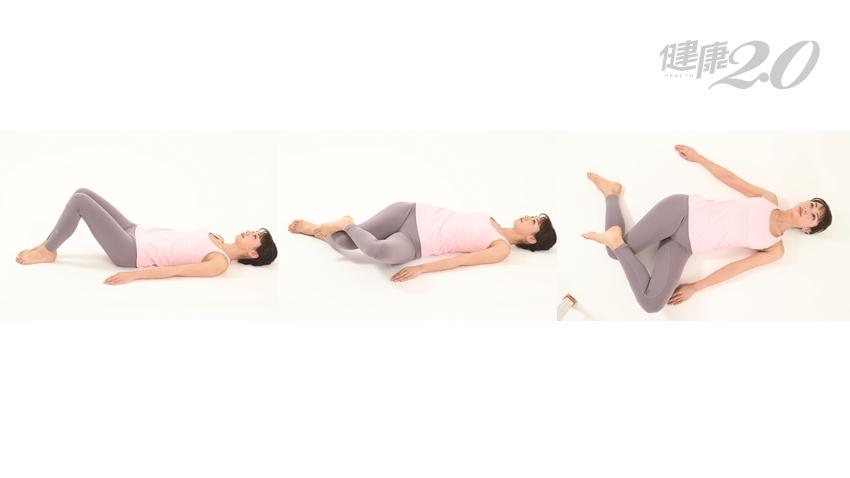 站立、走路總是膝蓋痛?躺著做10秒「伸展大腿外側操」刺激1穴位 改善膝蓋痛、小腿肚疲勞