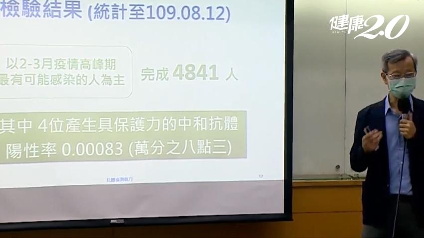 彰化縣萬人血清抗體調查報告出爐!陽性率僅萬分之8.3 葉彥伯:台灣社區非常安全