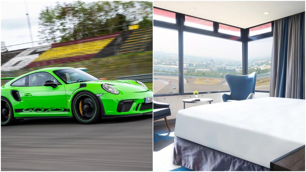 (圖片來源/ 麗寶賽車主題旅店、Porsche) 睡在賽道不是夢! 全台唯一「賽車旅店」試營運