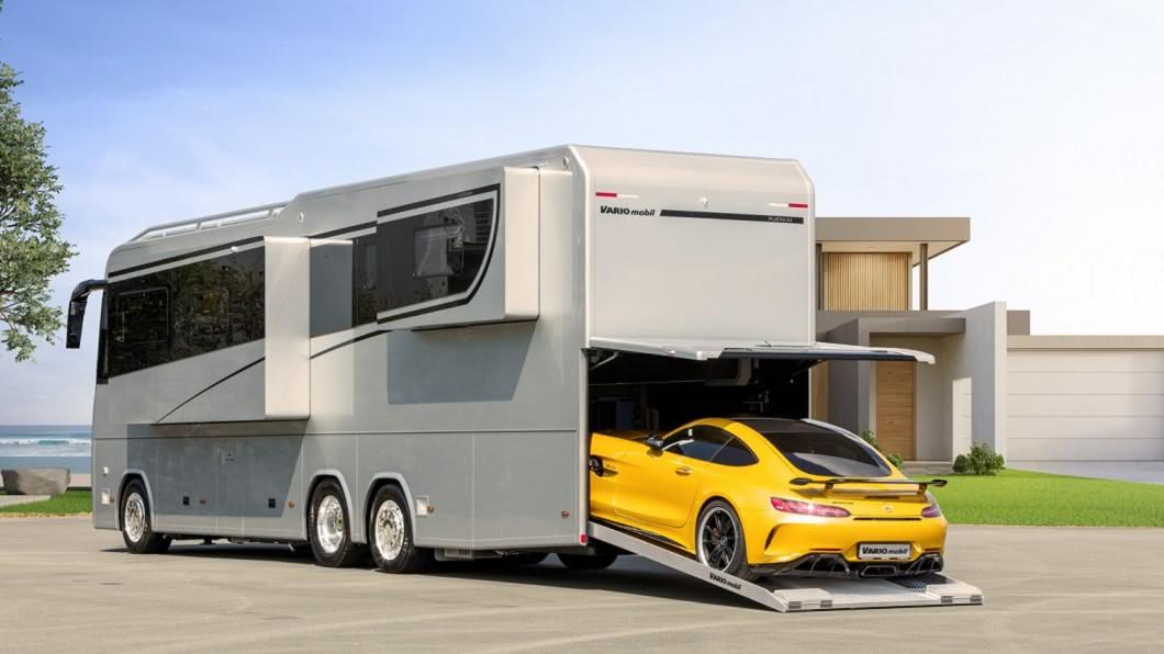Variomobil的最新頂級新產品Perfect 1200 Platinum,建議售價是100萬美元。(圖片來源/ Variomobil) 超級富豪願為「這部車」考大貨車駕照 Variomobil背著跑車去旅行