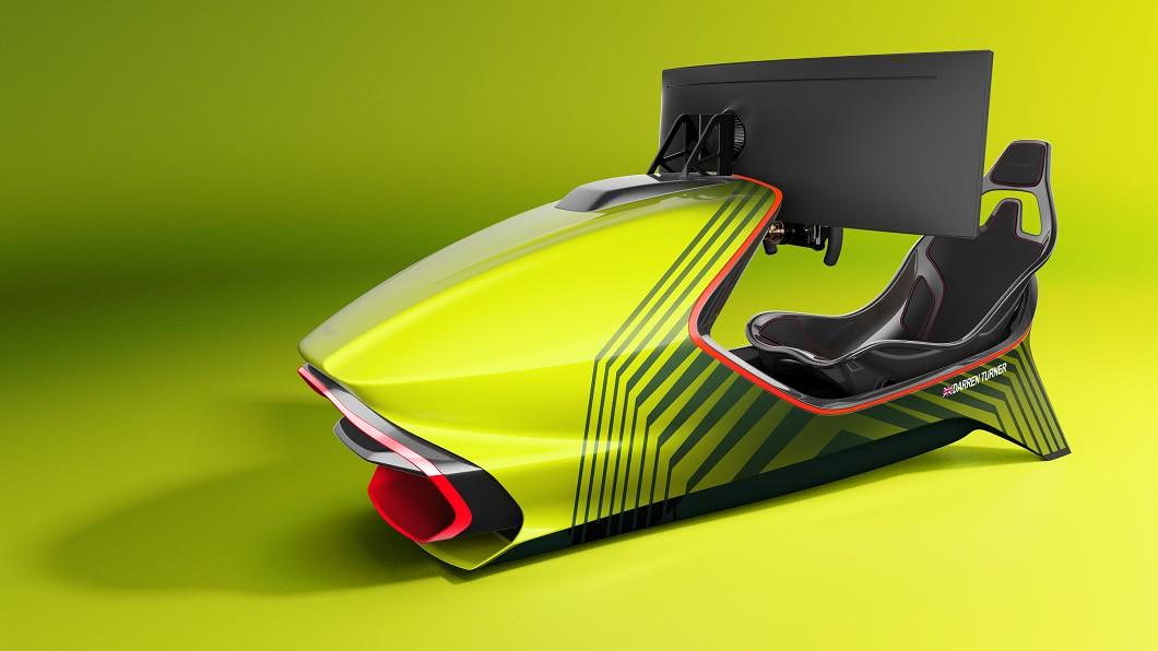 Aston Martin發表全球限量150套的AMR-C01賽車模擬器。(圖片來源/ Aston Martin) 用這打電動太奢侈 Aston Martin推出AMR-C01賽車模擬器