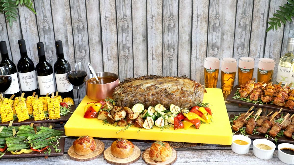 3大飯店「烤肉吃到飽」!巨型花枝、戰斧牛可吃,每人499元起就能爽嗑