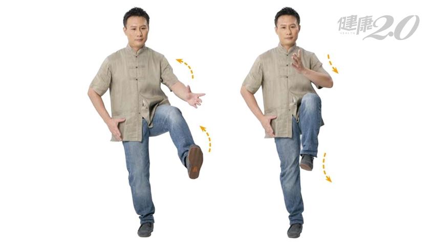 老了最怕一跌不起!「纏絲獨立」訓練平衡 強健腿力、保命又防身