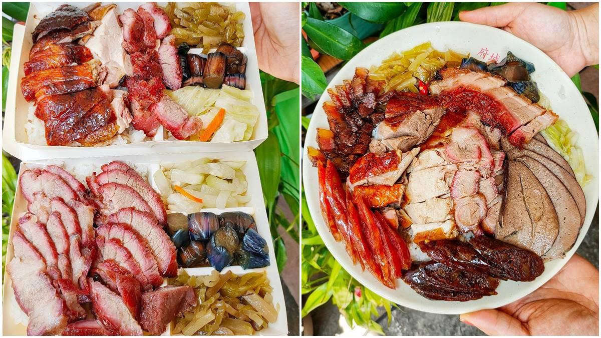 肉控必收!桃園超浮誇限量燒臘飯1份有8種主菜,脆皮燒肉、炭香雙腿讓你吃到怕