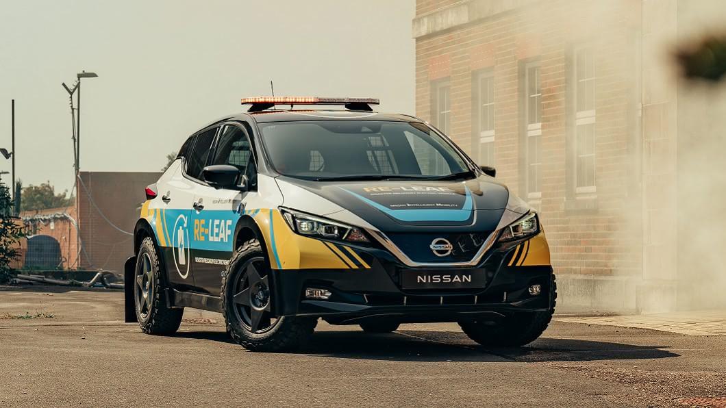 Nissan打造Re-Leaf救援概念車,展現電動緊急應變車概念。(圖片來源/ Nissan) 電動車版超級英雄 Nissan Re-Leaf使命必達