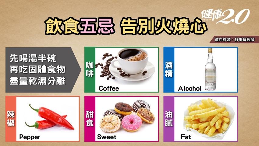 胃食道逆流飲食5大忌,吃東西要「乾濕分離」!要先喝湯還是先吃飯?