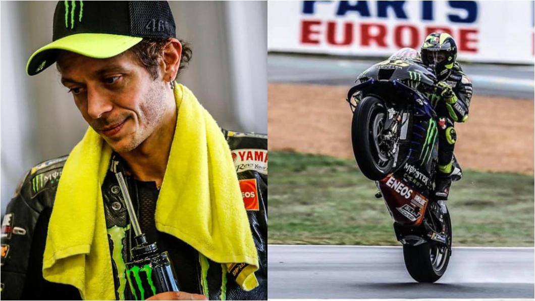 Valentino Rossi確診新冠肺炎。(圖片來源/ Valentino Rossi VR46 Official Facebook) MotoGP車手Rossi確診 歸隊時間仍是未知數