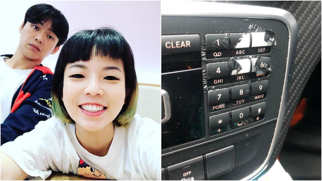 藝人黃鐙輝老婆萁萁在臉書上po呼籲大家,在車上放精油千萬要注意。(圖片來源/ 萁萁) 車上放精油小心傷害內裝 黃鐙輝妻:賓士都爛掉了!