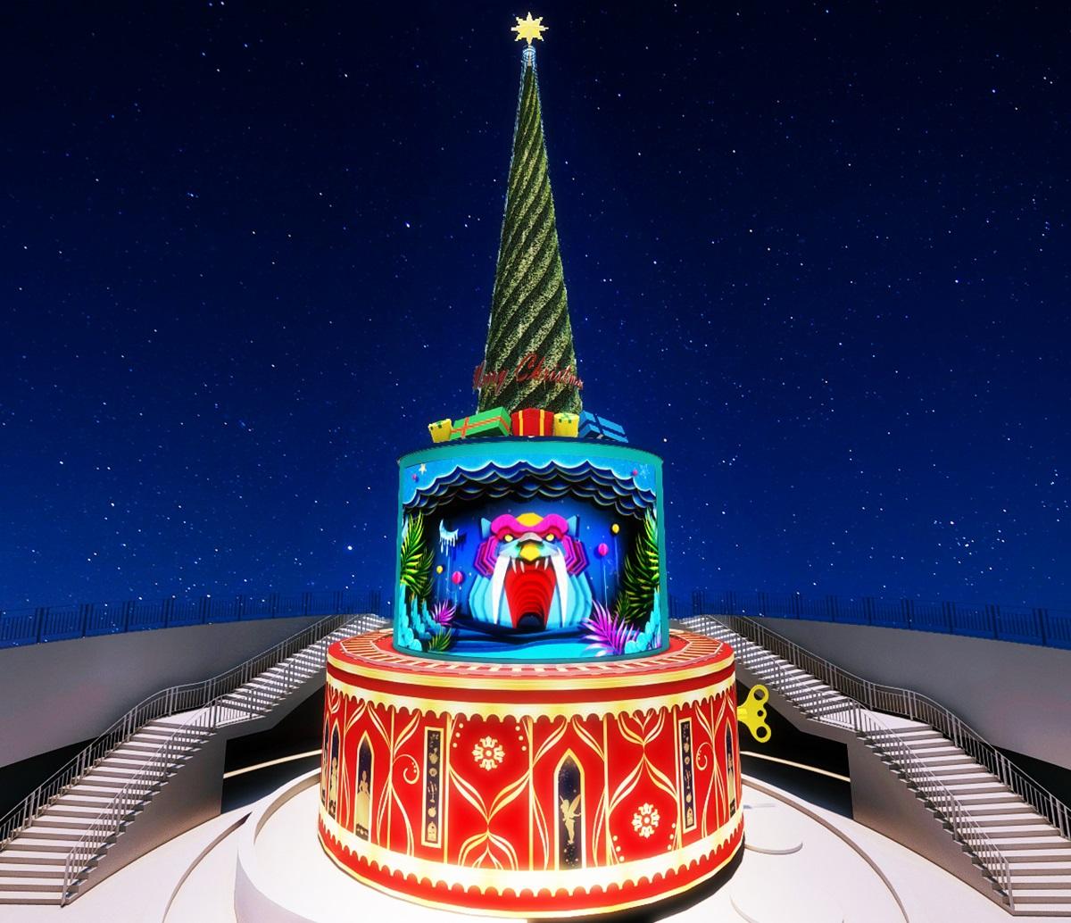 史上最久「新北歡樂耶誕城」!全台最大耶誕樹變身「迪士尼公主」長達52天都可拍
