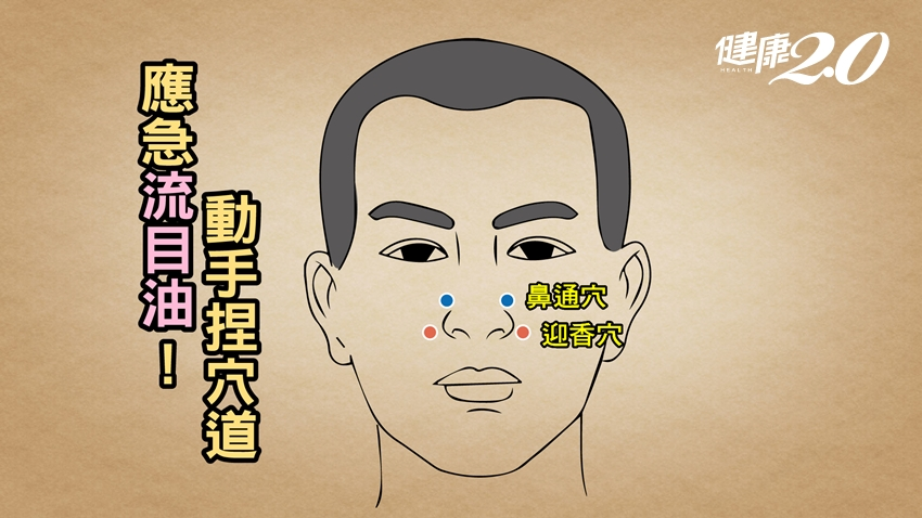 年紀大總是「流目油」?中醫獨創護眼奇招  2大穴位暢通鼻淚管 改善鼻塞、流鼻水也有效