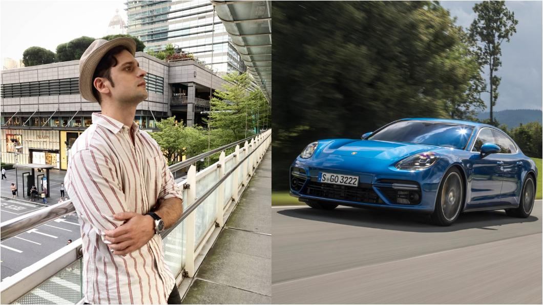 吳子龍表示Porsche Panamera是他的夢想車。(圖片來源/ 吳子龍 臉書、Porsche) 奶爸吳子龍獨愛Porsche 感嘆在義大利買房子比買車便宜