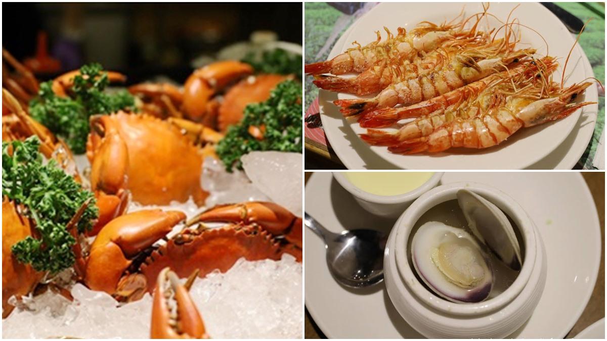 痛風也要嗑!宜蘭吃到飽「海鮮餐廳」菜色超澎派,必點清蒸處女蟳、鹽烤蝦