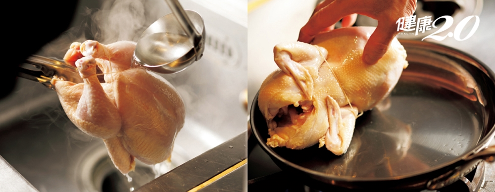 用平底鍋就能烤全雞!先煎這部位不怕「外熟內生」 6步驟輕鬆綁棉線
