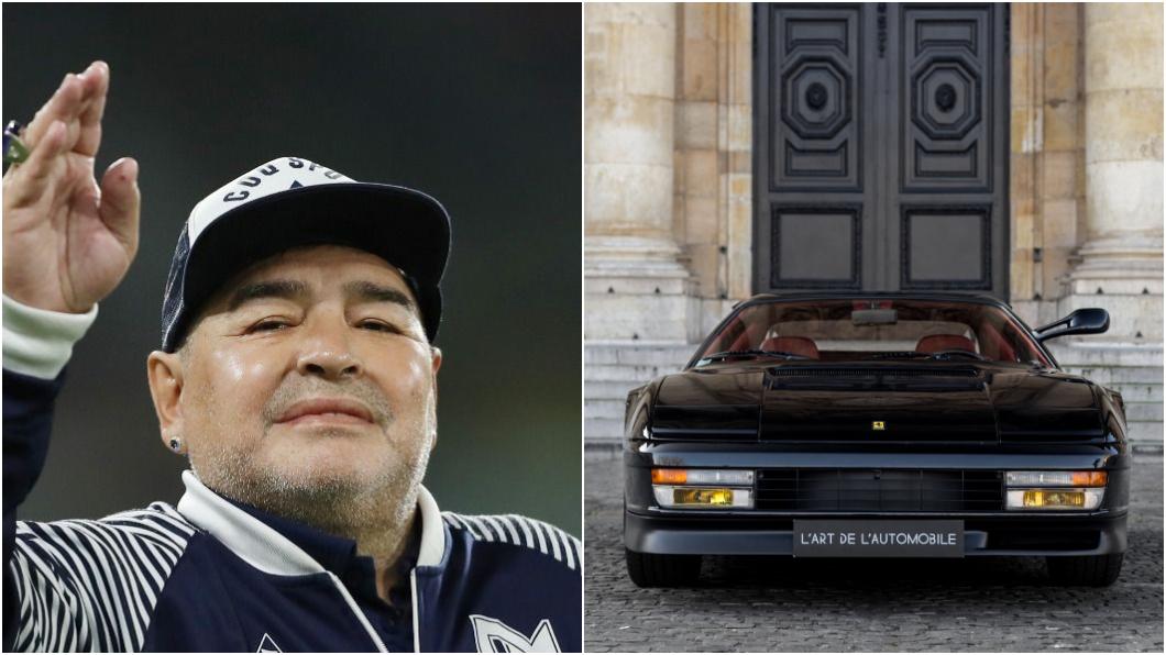 馬拉度納一生中擁有過不少愛車,包含Porsche、Fiat、Ferrari等車。(圖片來源/ 達志影像路透社、Ferrari) 「上帝之手」馬拉度納逝世 傳奇球星獨愛黑色Ferrari