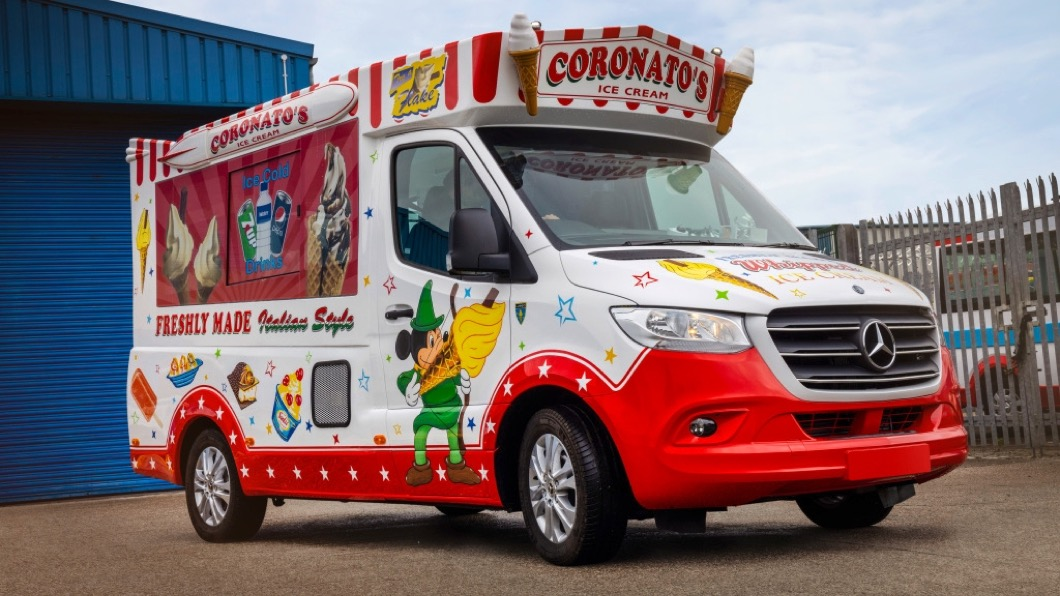 在英國有間名為Whitby Morrison汽車改裝廠,以專門打造冰淇淋車聞名。(圖片來源/ M-Benz) M-Benz竟然有冰淇淋車! 把懷念的滋味送到你家