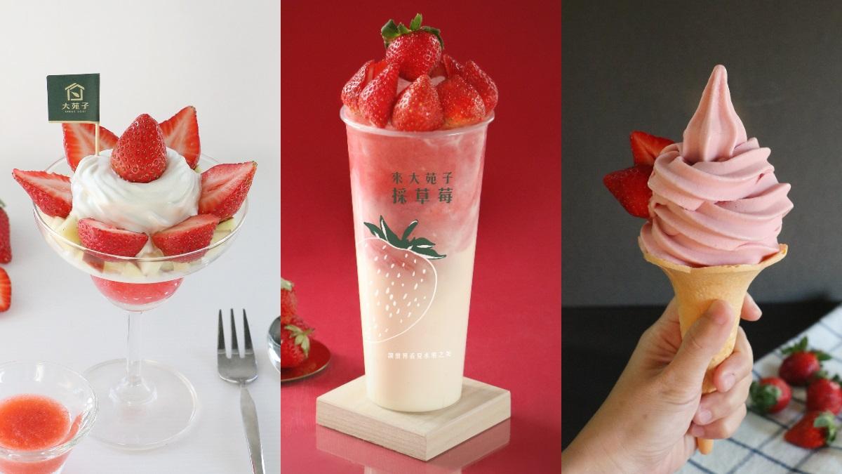 18顆鑽石級草莓飲品「莓好相遇」回歸!大苑子再推高顏值「草莓聖代+霜淇淋」一起開吃