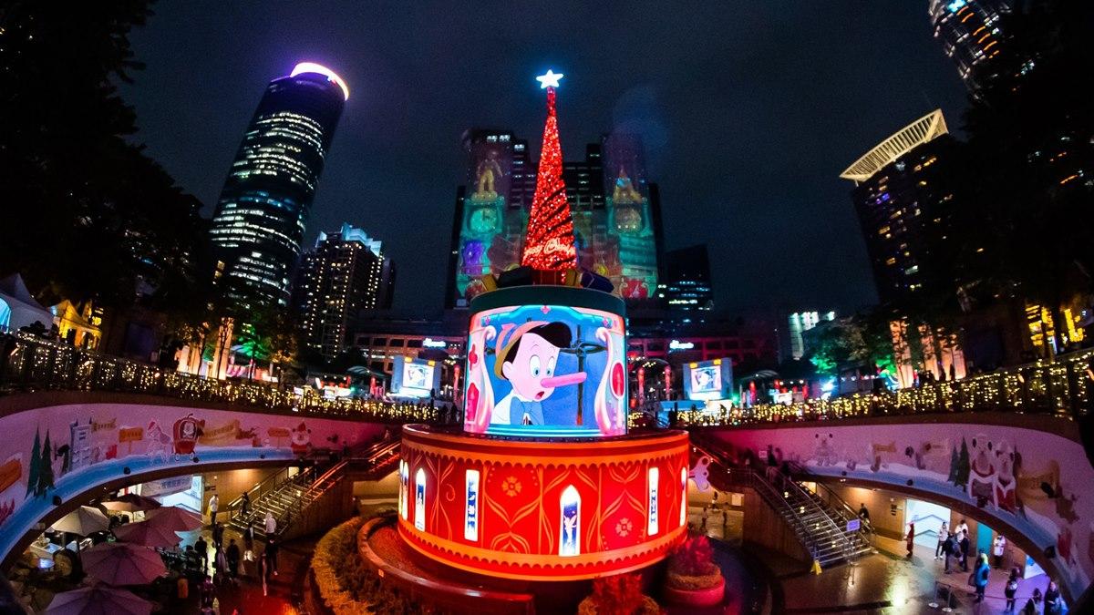 「新北耶誕主燈秀」第二彈!全新迪士尼3D光雕雷射秀,4大經典童話首公開
