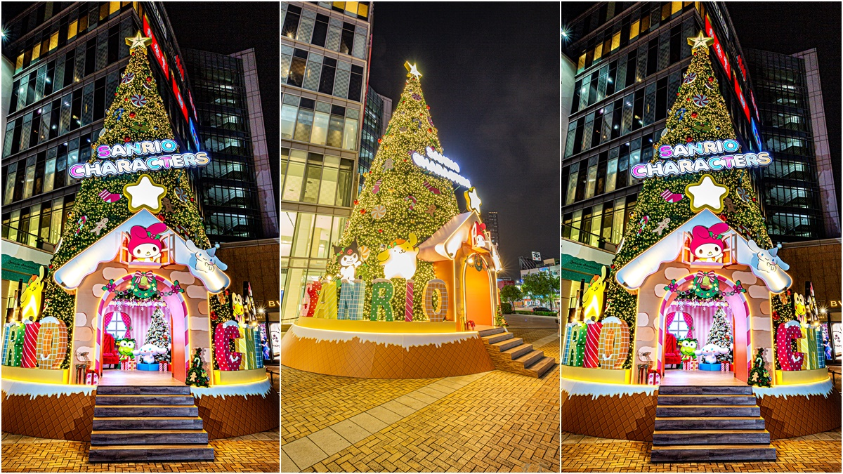 巨萌「三麗鷗耶誕樹」登場!高雄百貨新「16公尺耶誕樹」,有美樂蒂、布丁狗、大耳狗