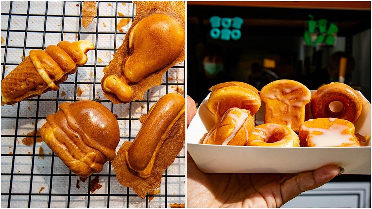 【新開店】可愛到捨不得吃!中壢雞蛋糕偽裝漢堡、甜甜圈,必點獨特起司熱狗口味