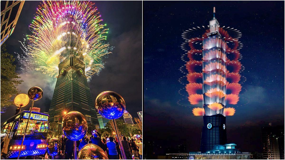 台北101跨年煙火曝光!首度打造「360度立體特效輪狀煙火」,施發長達300秒