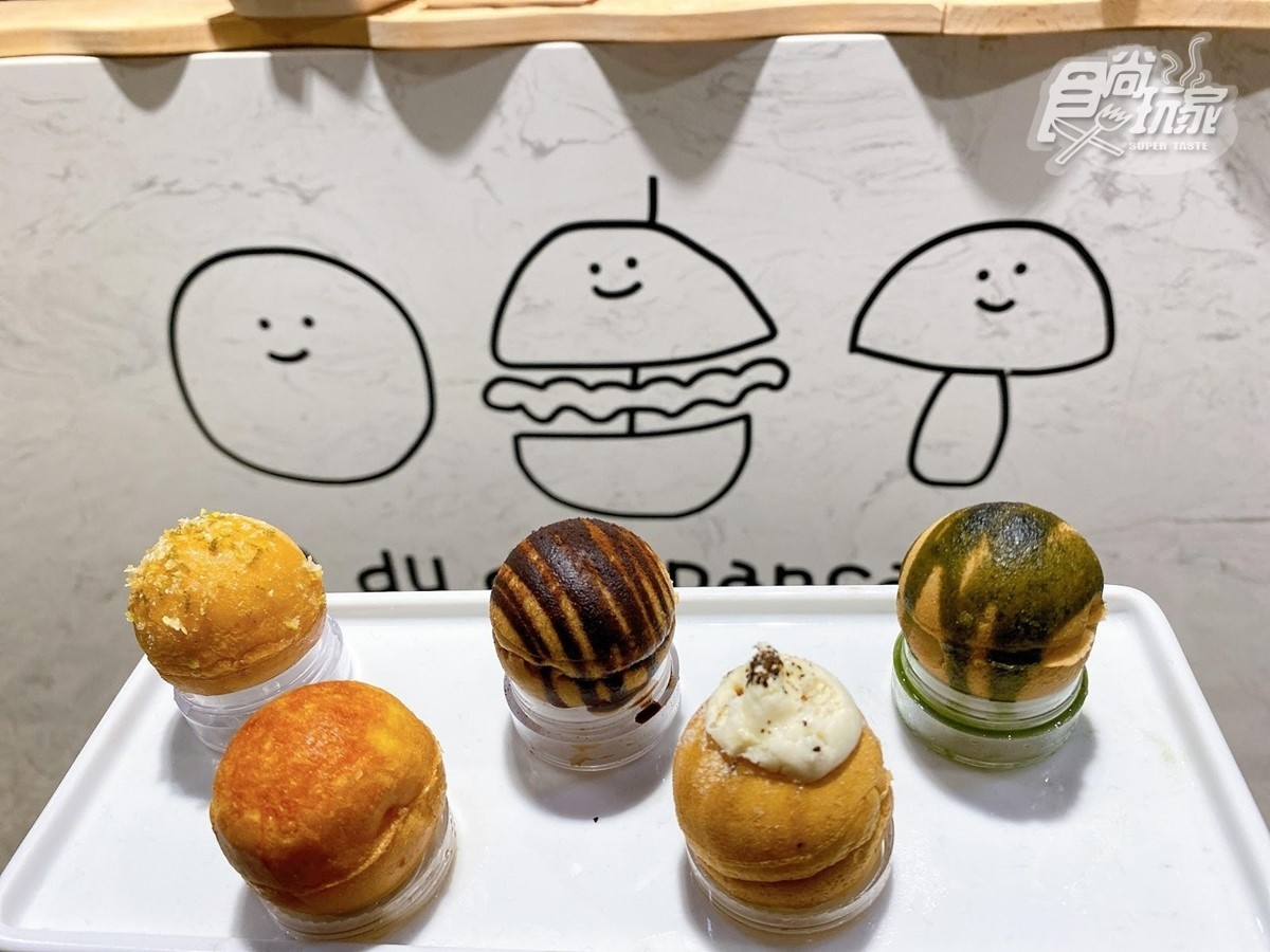 【新開店】其實是鬆餅啦!「迷你漢堡」夾生菜、起司、肉片,還有蘑菇造型超好拍