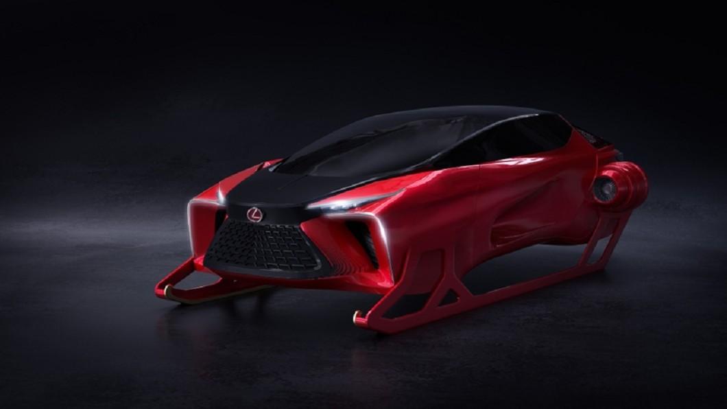 加拿大Lexus日前公布一張HX Concept概念車預告圖,在12/22終於正式曝光專為聖誕老人設計的專屬雪橇。(圖片來源/ Lexus) Lexus HX讓聖誕麋鹿爽退休? 原廠稱置物空間「無限大」