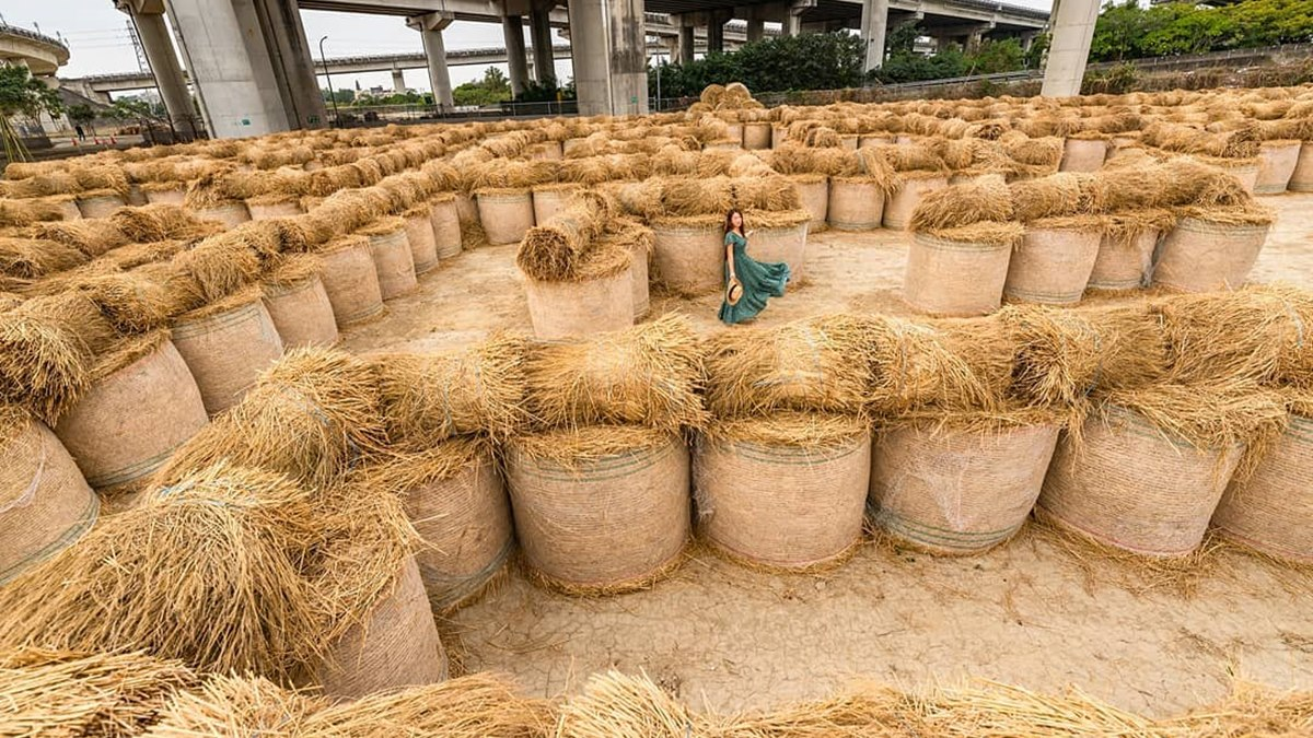 最萌祕境!闖全台最大「600捲稻草迷宮」,還能玩滾草球、看表演、吃滷肉飯