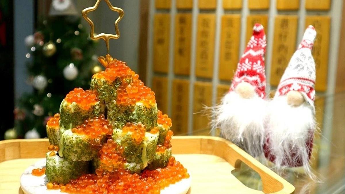 北海道「山崩鮭魚卵」這裡吃!厚版花壽司「超狂耶誕樹」現省140元爽嗑