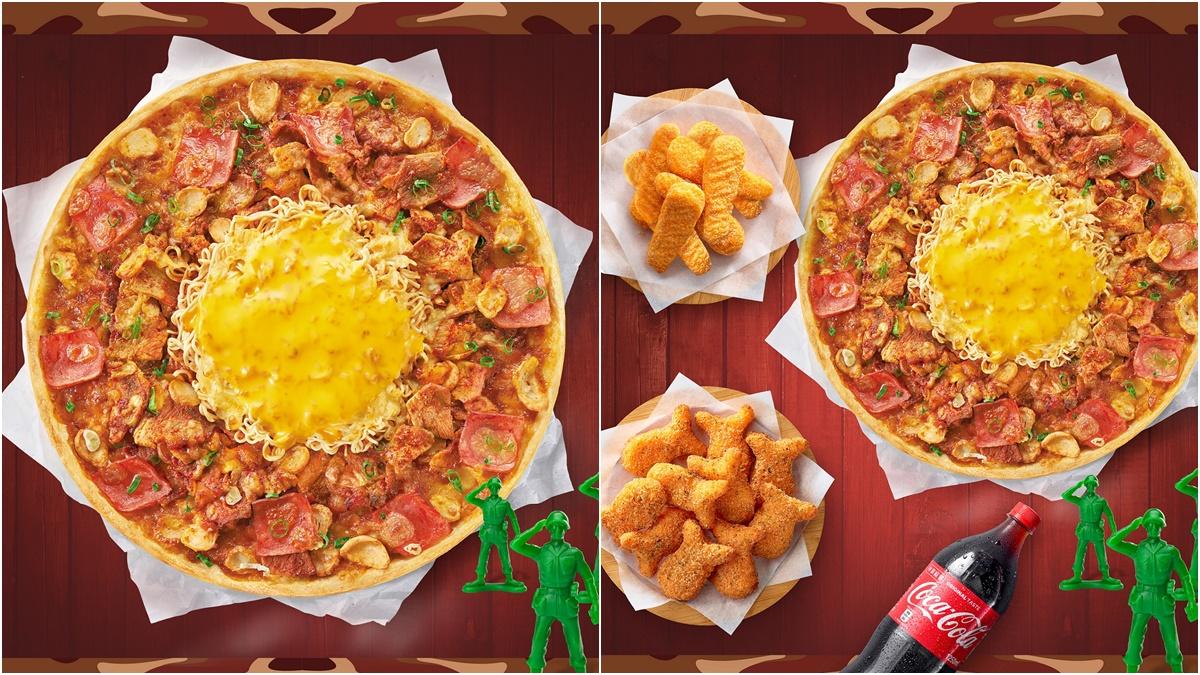 呼叫韓食控!必勝客推「特種部隊鍋披薩」,霸氣鋪滿泡菜+豬五花肉肉