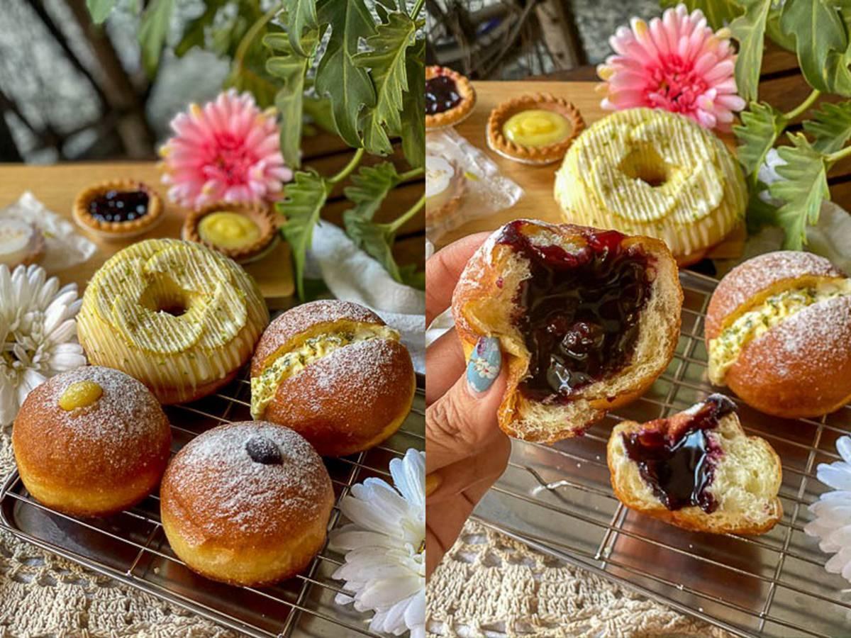 下午茶首選!台南超狂手作甜甜圈吃得到30種口味,法式藍莓、雞蛋沙拉一咬就爆漿