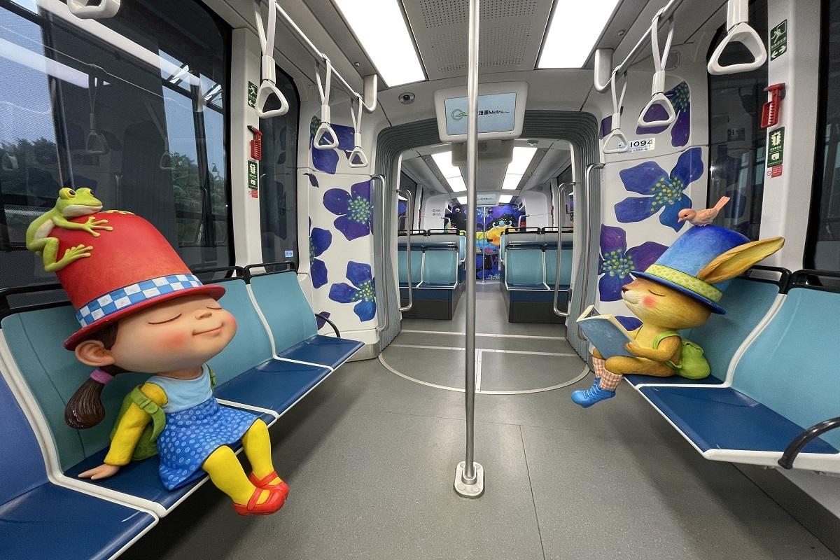 幾米粉朝聖了!淡海輕軌「2021幾米列車」新上路,2大彩繪車廂Q萌登場