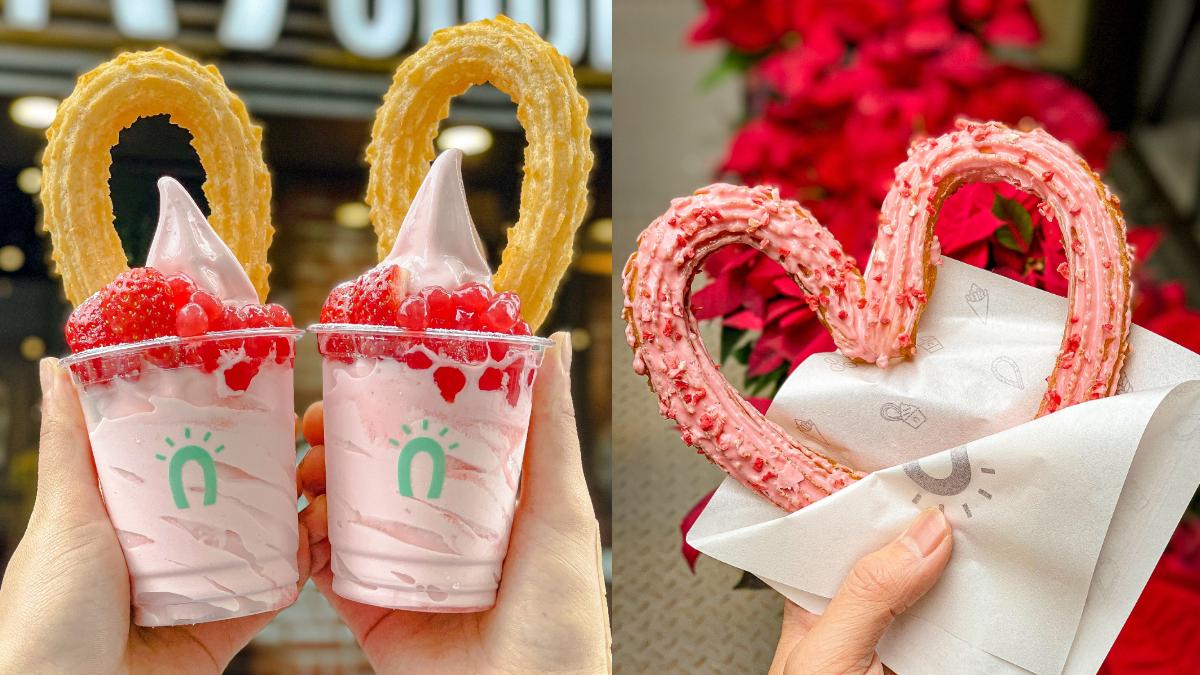 「草莓穀物啵啾」粉紅珍珠太夢幻!全新4款草莓新品必吃,再吃「草莓愛心吉那圈」