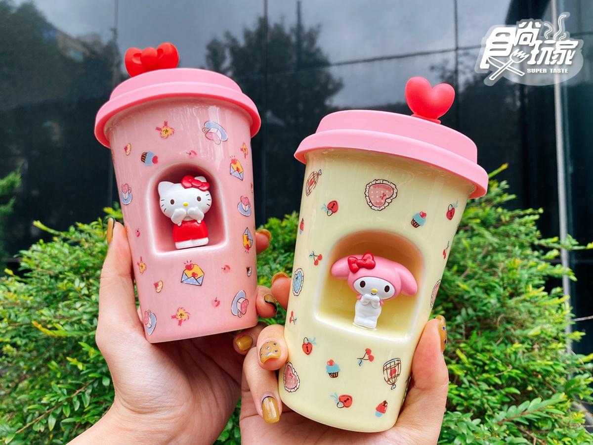 Kitty+Melody公仔陶瓷杯、置物盒都收!85度C推春節禮盒&加價購,還有Kitty桶可揹