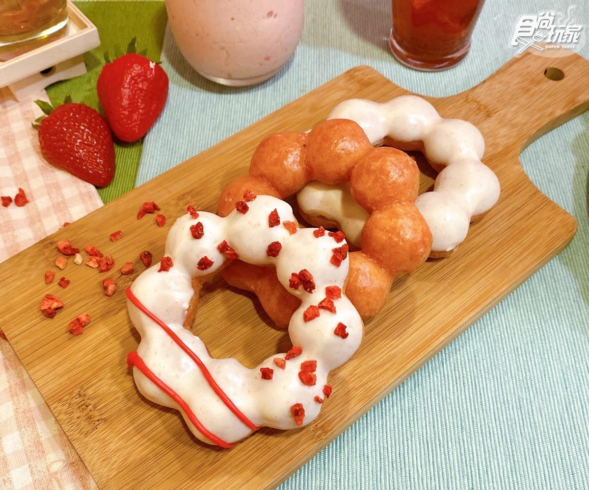 限時買三送一!Mister Donut「白雪草莓季」開跑,先吃夢幻系「白雪草莓貝貝」