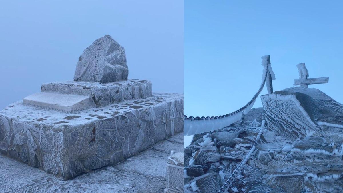 -6.7度銀白世界!玉山出現夢幻「霧淞步道」,最冷寒流登山需注意