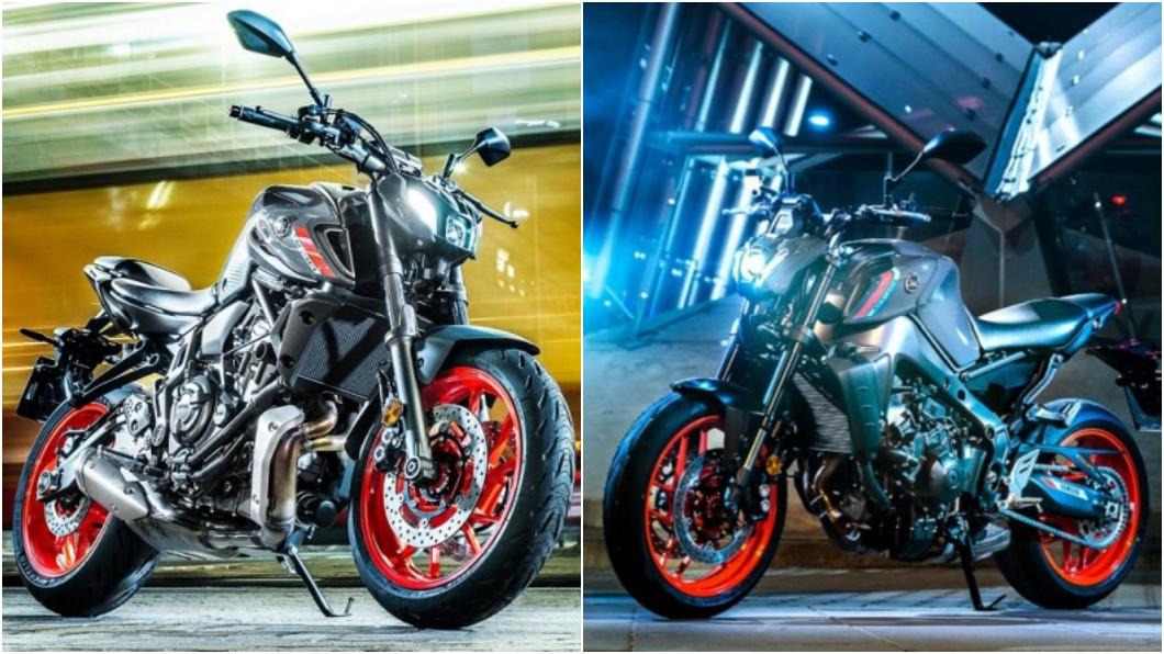 台灣山葉在1/7五股重型機車展上,宣布正式發表新年式MT-09、MT-07,兩款車都換上新世代家族外觀,售價分別為36萬元、49.8萬元。(圖片來源/ Yamaha) 新年式MT09、MT07在台發表 新造型挑戰傳統審美觀