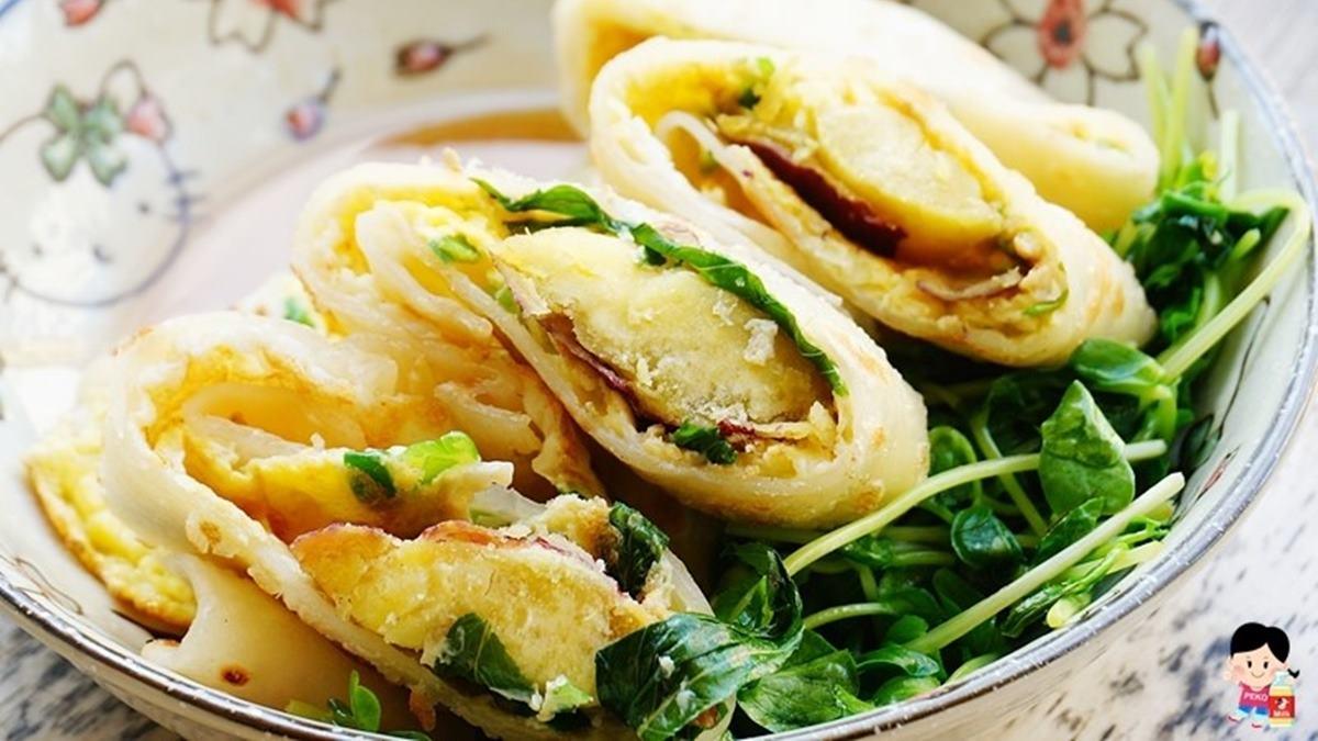 早餐控快收!板橋老字號「蛋餅王」超過30種口味,栗子地瓜、蘆筍、雙菇隨你挑