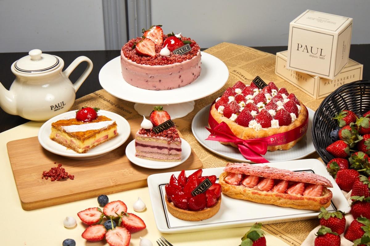 草莓控不吃不行!PAUL推夢幻系「紅寶石天堂草莓蛋糕」,3款草莓甜點同步回歸