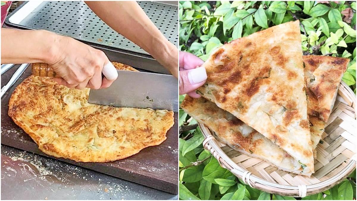 從發財車變攤位!超人氣蔥油餅可要求酥脆度,撒上胡椒鹽更對味