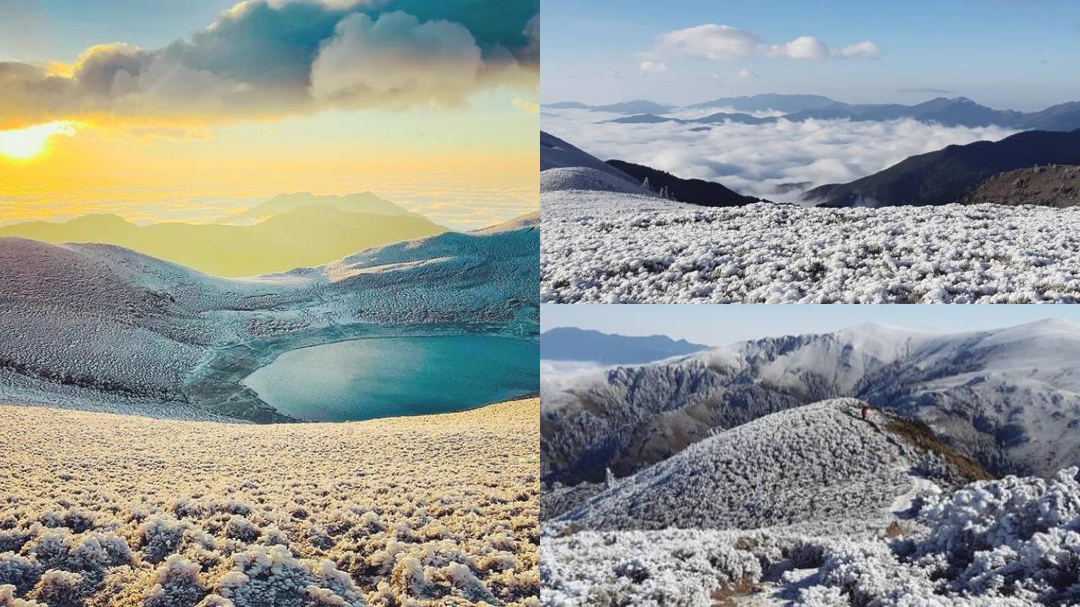第四波寒流有望降雪!天使的眼淚「嘉明湖」化身銀白世界,日出、雲海宛如人間仙境