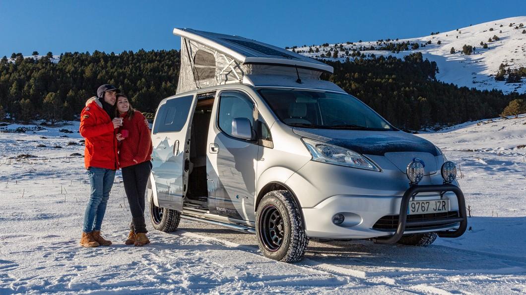 Nissan推出e-NV200電動冬季露營車概念,不只對環境友善也能抗冬。(圖片來源/ Nissan) 電動露營車才夠環保 e-NV200不但純淨還能抗寒冬