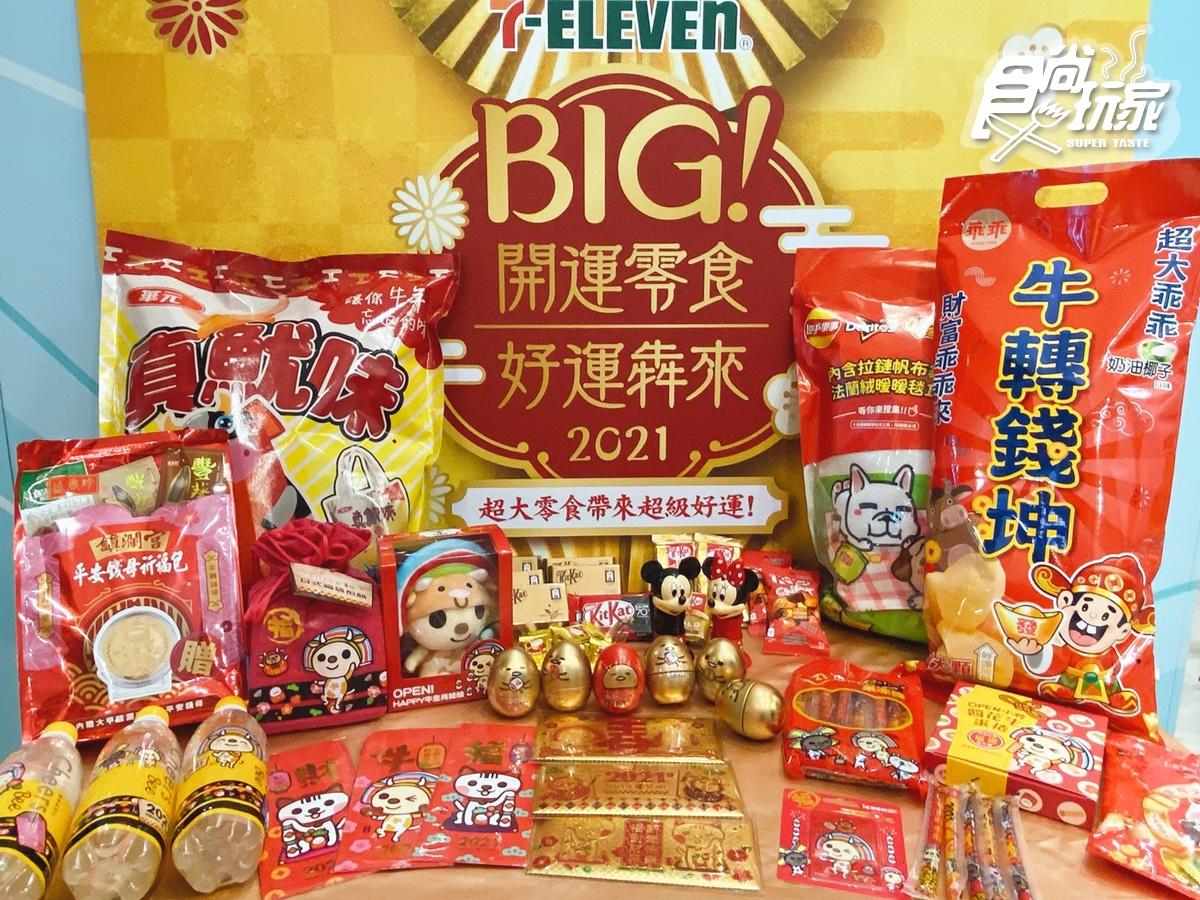 這5天百項商品「買一送一」!7-11新年首推巨大零食、蛋黃哥巧克力蛋、OPEN!牛娃娃