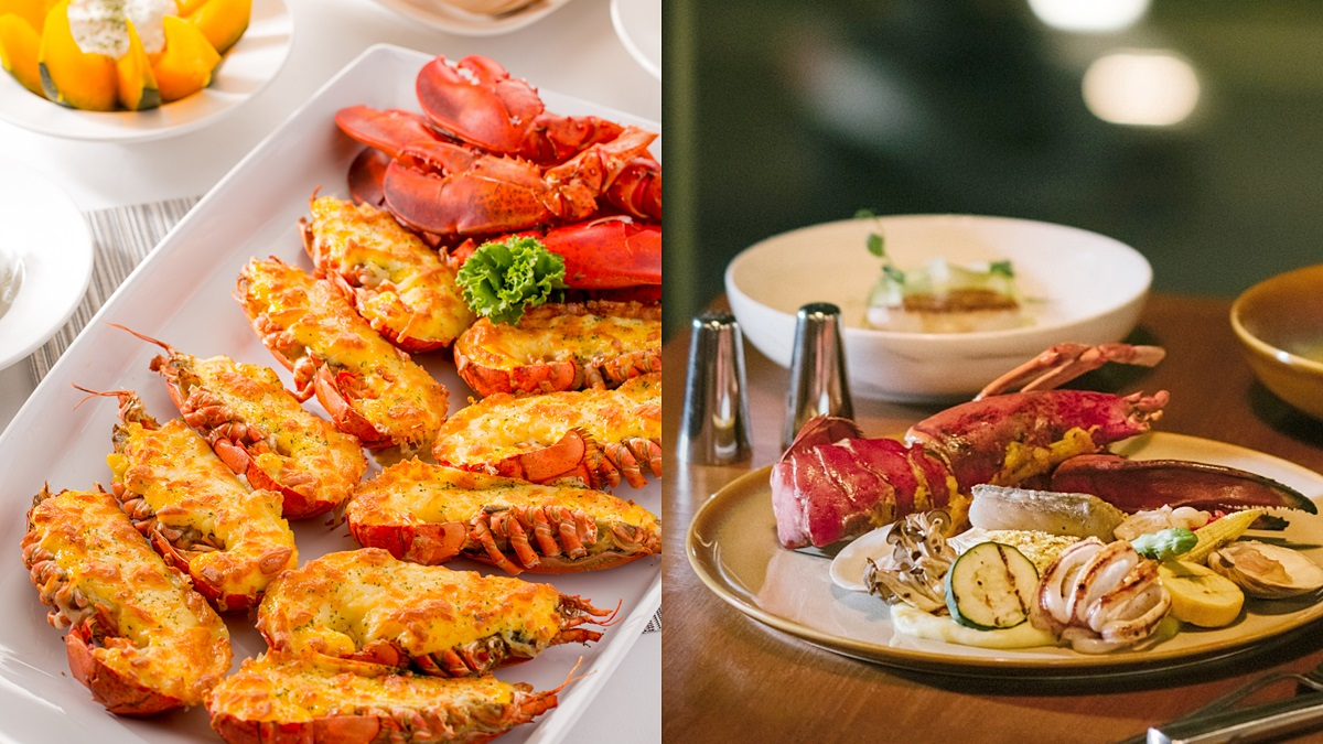 龍蝦控必嗑兩大好康!吃到飽加碼「免費吃焗烤龍蝦」、飯店出示1元「龍蝦餐買一送一」