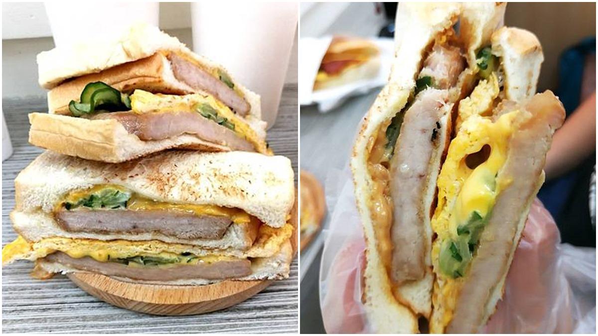 一口咬不下!內湖浮誇系炭烤三明治包超厚切溫體豬,加點特調花生醬更對味