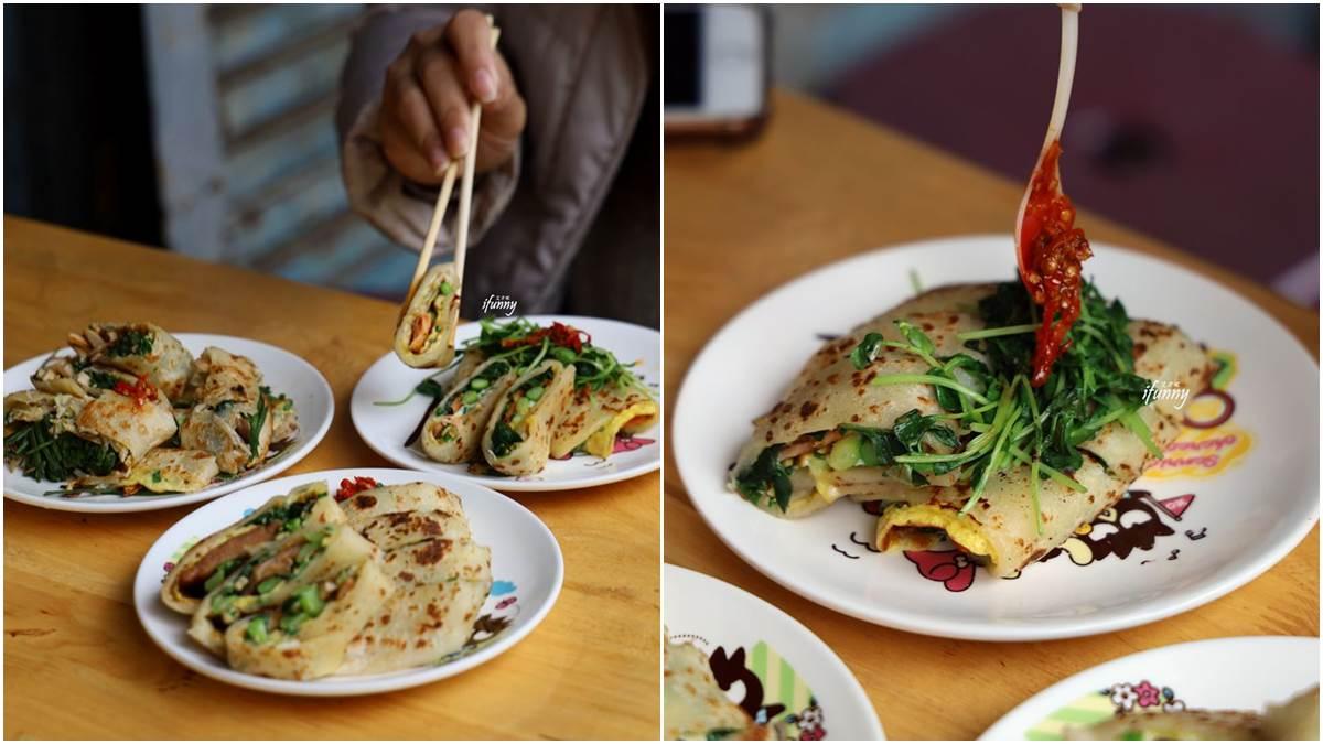 超過30種口味!板橋老字號蛋餅3種隱藏版吃法:蘆筍加鮭魚、雞腿排加青花筍