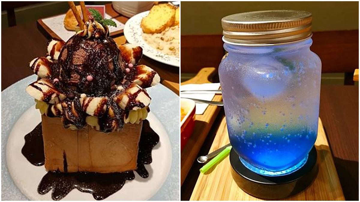 水水會愛!士林美拍咖啡廳獨享蜜糖吐司超邪惡,打卡必點彩虹藍柑氣泡水