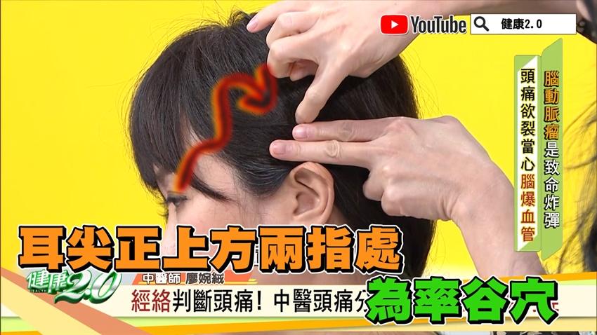 頭痛止痛妙招!5穴位緩解頭痛 加1動作更有效
