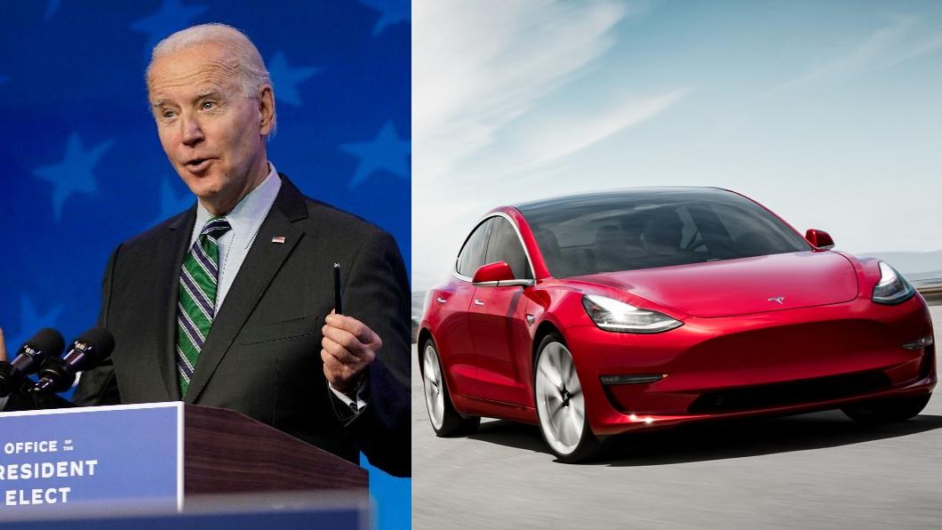 新任美國總統拜登也在1月25日簽署了「購買美國貨」行政命令,打算要以美國工人製造的電動車,代替目前約65萬輛的聯邦政府車隊。(圖片來源/ 達志影像美聯社、Tesla) 拜登宣布政府車隊全換電動車 福斯:我們準備好了!