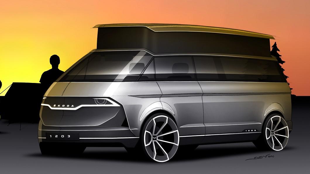 Škoda於官網釋出新1203設計概念圖,展現Škoda露營車樣貌。(圖片來源/ Škoda) 如果Škoda也推露營車 長這樣你可以嗎?