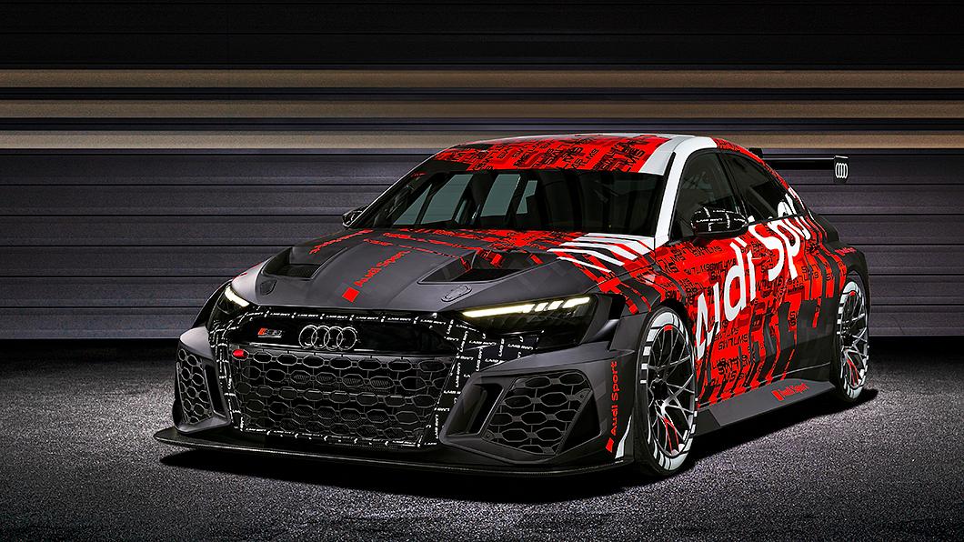 Audi正式發表新一代TCR賽車RS 3 LMS。(圖片來源/ Audi) 新世代A3競技化升級示範 RS 3 LMS搶先亮相